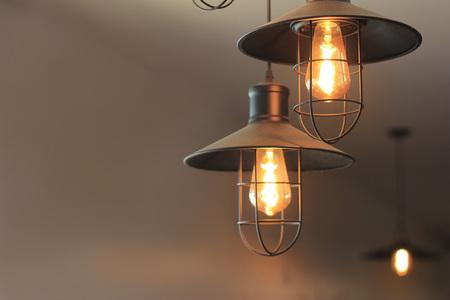 Lighting decor on dark background