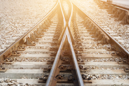 Train railway railroad track for junction