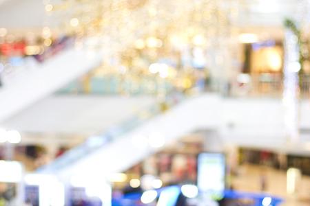 背景のためのぼやけたショッピングモール 写真素材