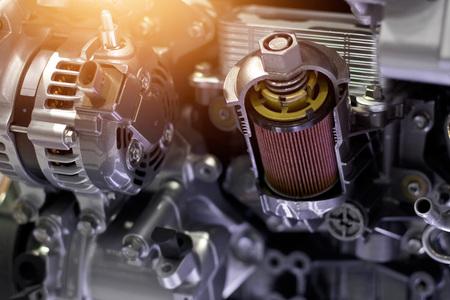 ●車種部、現代自動車モーターのコンセプトとカットメタルカーエンジン部詳細