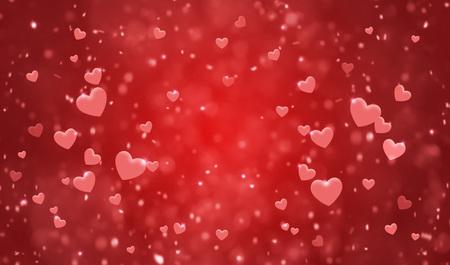 Hearts shape of a Valentines day background Standard-Bild