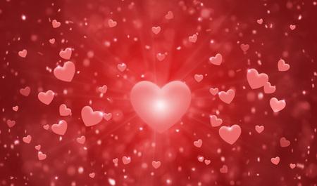Hearts shape of a Valentines Day Card Standard-Bild