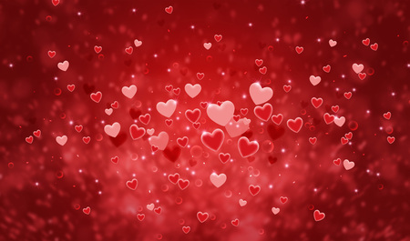 Hearts shape of a Valentine's day background Kho ảnh