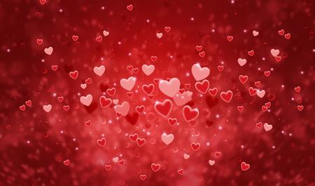 Hearts shape of a Valentine's day background Standard-Bild