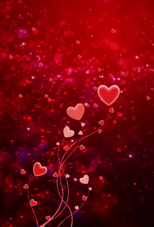 Hearts shape of a Valentine's day background Stock Photo