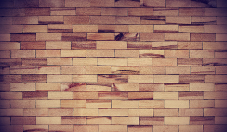 Wood texture for background, wooden block wall interior, seamless hardwood brown floor.