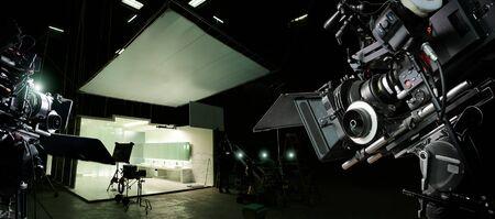 Achter de schermen van het maken van film en tv-commercial.