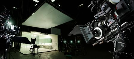 Behind the scenes of making of movie and TV commercial.