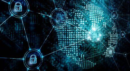 Cybersecurity sulla rete globale, servizi di sicurezza informatica su internet,