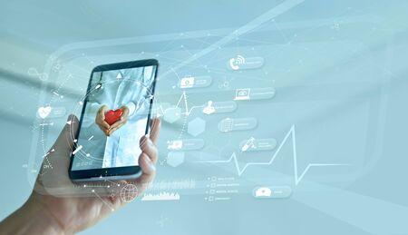 Diagnostics and online medical consultation on smartphone