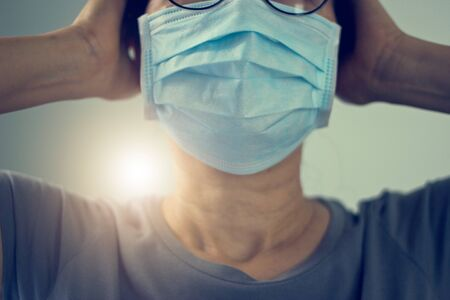 Women wearing virus mask protect of infection and spreading Coronavirus or Covid-19 on hospital