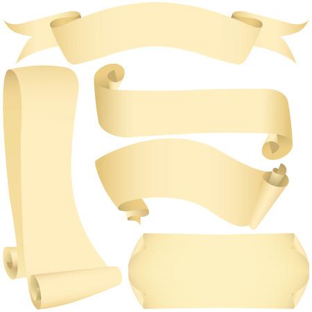 Grunge ensemble des bannières et des rouleaux (vecteur, CMYK) Banque d'images - 4819560