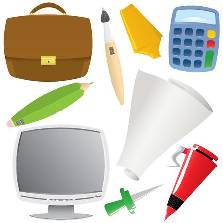 office object set (vector, CMYK) Stock Vector - 4819477