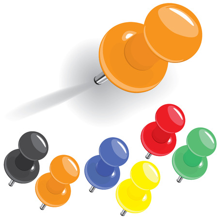 hoch detaillierte motley Pin set (Vektor, CMYK)