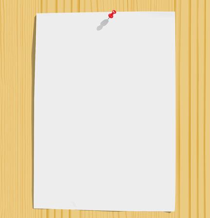 furnier: White Paper-Blatt und die motley Stifte am Holz Textur (Vektor, CMYK)