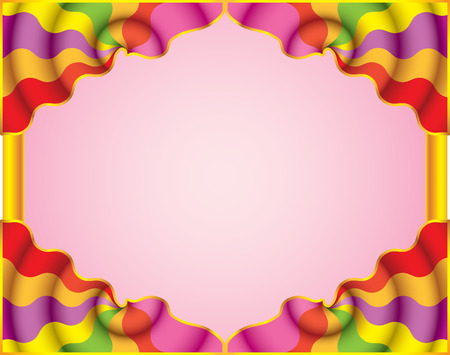 overhang: Motley abstract frame. Funny curtain. (vector, CMYK)