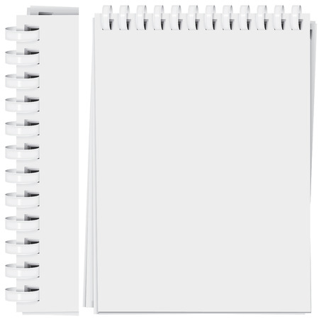 vector high detailed plastic spiral bound notepad page (CMYK) Illustration
