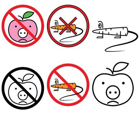 gmo: GMO free signs set(vector, CMYK)