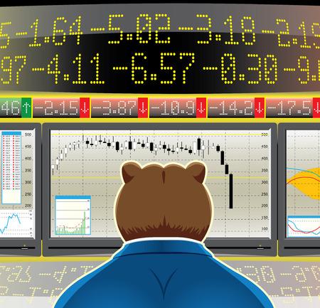 bear market(CMYK) Vector