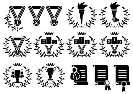 sports symbol set(, CMYK) Ilustrace