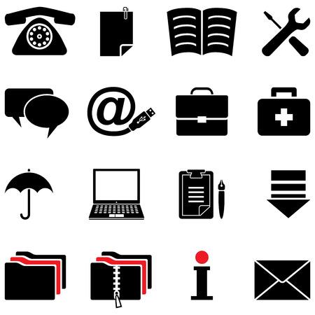 cable telefono: conjunto de iconos de equipo  Vectores