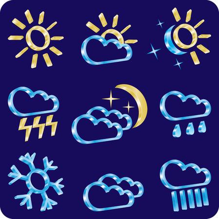 weather icon set Stock Vector - 7310180