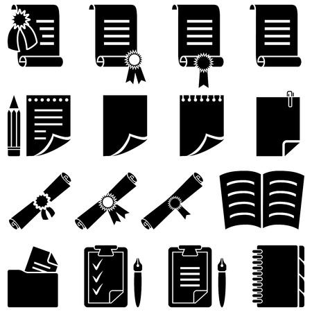 diploma: Conjunto de diploma y hoja de papel