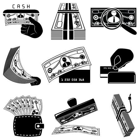 Money icon set Stock Vector - 7638137