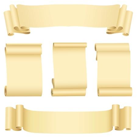 Grunge bannières les rouleaux de la série (vecteur, CMJN) Banque d'images - 9150152