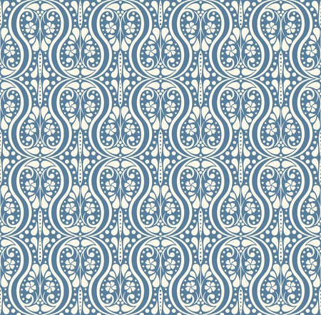 antique wallpaper: vector elegant seamless  wallpaper (CMYK)