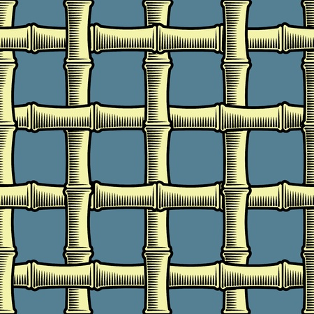 lattice window: Bamboo grate seamless background(vector, CMYK)