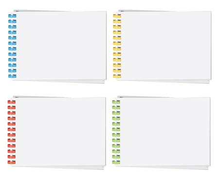 plastic: vector hoge gedetailleerde kunststof spiraal gebonden album pagina (CMYK) Stock Illustratie