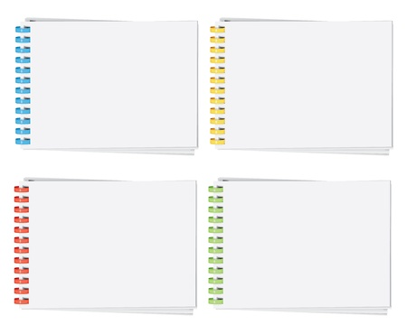 Vektor hoch detaillierten Kunststoff-Spiralbindung Album-Seite (CMYK)