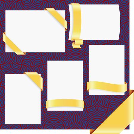 Vector page ribbon  corners set(CMYK)  Ilustrace