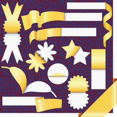 Vector stickers and labels set(CMYK) Vector