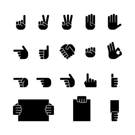 pu�os: equipo conjunto de iconos