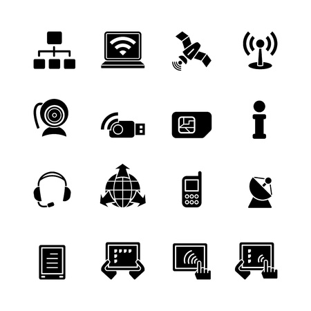 network card: computer icon set