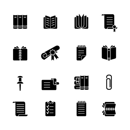 binders: computer icon set