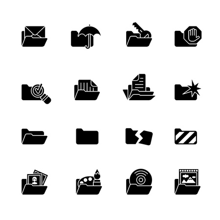 folder icons: computer icon set