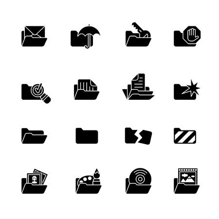 carpetas: equipo conjunto de iconos