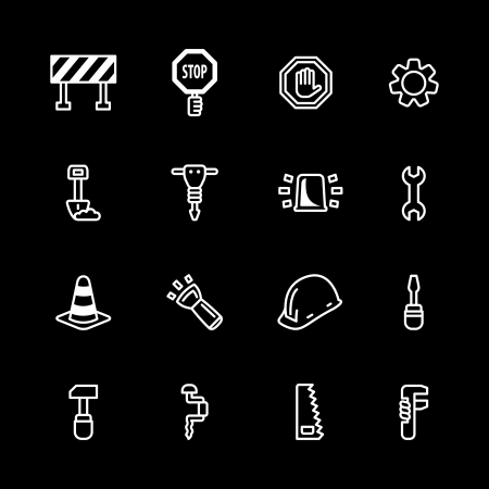 computer icon set Stock Vector - 16268670
