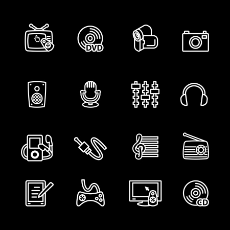 playstation: Multimedia computer icon set