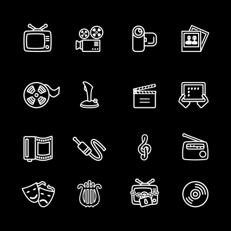 Multimedia computer icon set Stock Vector - 16268785