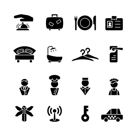 hostel: computer icon set