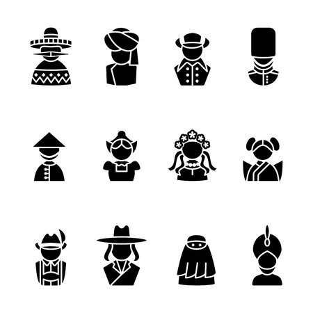 poncho: computer icon set