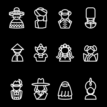 pakistani: computer icon set