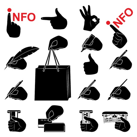 computer icon set Stock Vector - 16268851