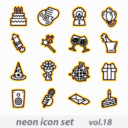 birthday icons set Stock Vector - 16268901