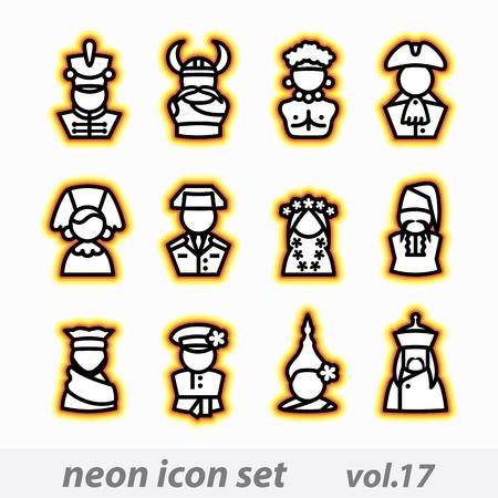 computer icon set Stock Vector - 16268873