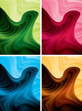 curve line: abstract background set